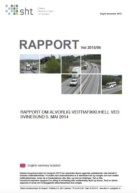 Påfarter till motorvägar måste anpassas till tung trafik visar ny norsk rapport