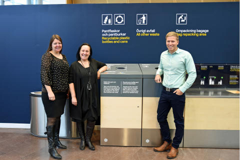 Nydesignade returkärl på Stockholm Arlanda Airport