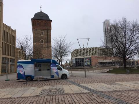 Beratungsmobil der Unabhängigen Patientenberatung kommt am 12. Mai nach Chemnitz.