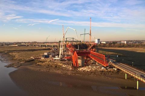 Bridge-building machine Trinity finishes work in Widnes for Mersey Gateway