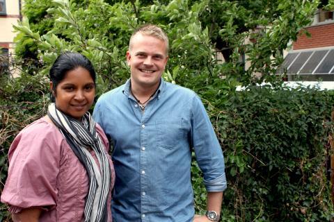 Viktoria Olsson och Ingemar Jönsson är representanter för Malmö stad i energiprojektet SERPENTE