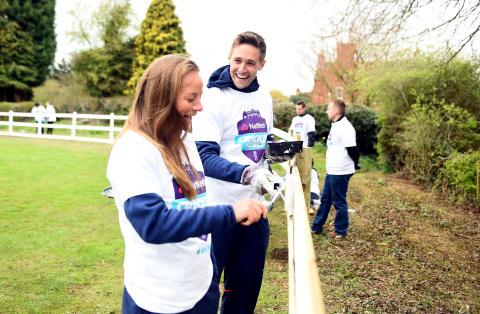 England cricket stars and volunteers celebrate start of the season at NatWest CricketForce Weekend