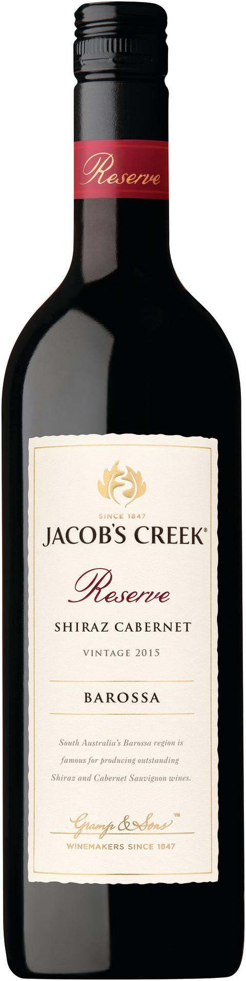 Nyhet 1 mars  Jacob's Creek Reserve Shiraz Cabernet Sauvignon 2015