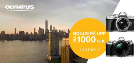 """Bonuskampanjen """"Din resa, vårt bidrag"""" har utökats till att omfatta fler kameror och objektiv från Olympus."""