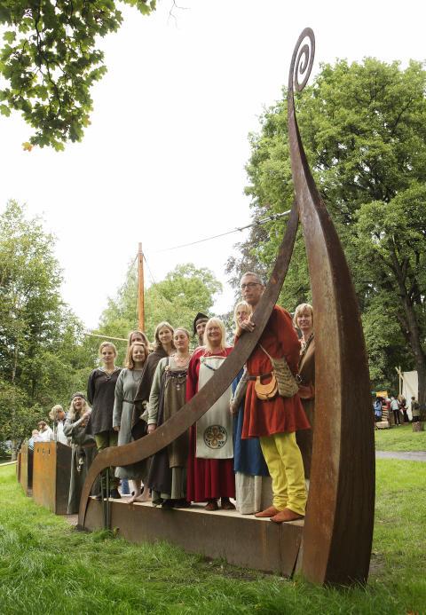 Vikinghage i Botanisk hage i Oslo