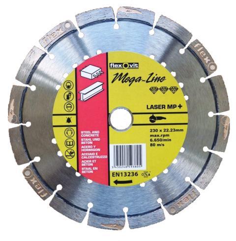 Flexovit MegaLine Laser MP+ - Klinga 230 mm