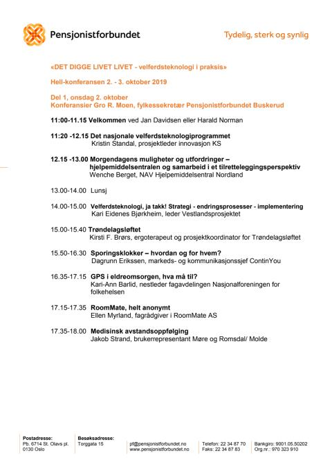 Program for konferansen