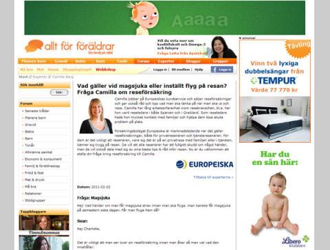 Europeiska medverkar på Allt för föräldrar