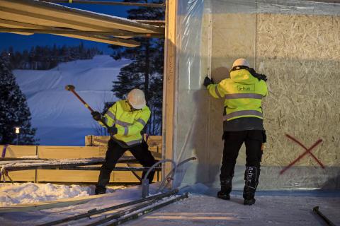 A-hus bygger Off Grid-hus i Skellefteå i samarbete med Skellefteå Kraft.