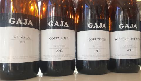 Weblansering av Gajas vingårdsbetecknade Barbaresco: Costa Russi, Sorì Tildìn, and Sorì San Lorenzo.