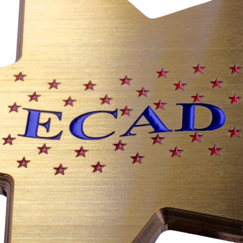 Akrylskylt Ecad