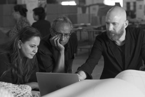 ANNANSTANS, Smita Chandna, partner development leader Social Entrepreneurs IKEA of Sweden. Jacob Mathew CEO Industree crafts foundation. Martin Bergström, designer.