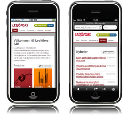 Mobile website provides better service and availability