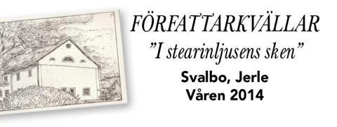 """Vårens författaraftnar """"I stearinljusens sken"""" på Svalbo"""