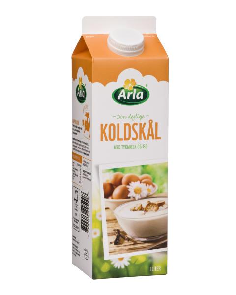 Arla Koldskål med tykmælk og æg