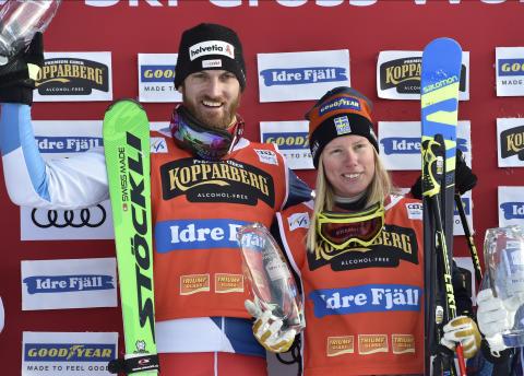 Sandra Näslund vann finalen på Idre Fjäll.