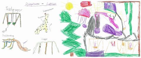Barn föreslår djungeltema på lekplats i Oceanhamnen