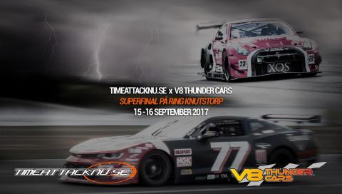 Superfinal med V8 Thunder Cars och TimeAttackNU.se på Ring Knutstorp