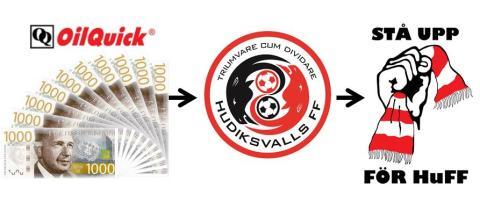 Unikt avtal! OilQuick ger HuFF 10 000 kr EXTRA som i sin tur ska ges till fansen i Stå Upp För HuFF!