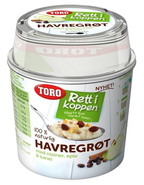 TORO Rett i koppen Havregrøt med eple og kanel