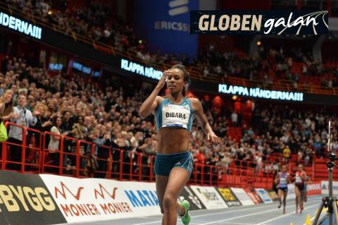 Dibaba jagar sitt tredje världsrekord i Globen