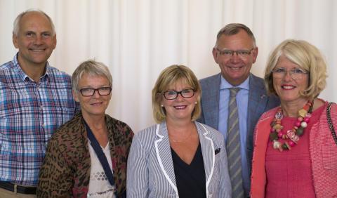 Landshövdingen och norsk kollega besökte Högskolan i Skövde