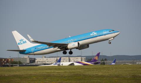 KLM - avgang