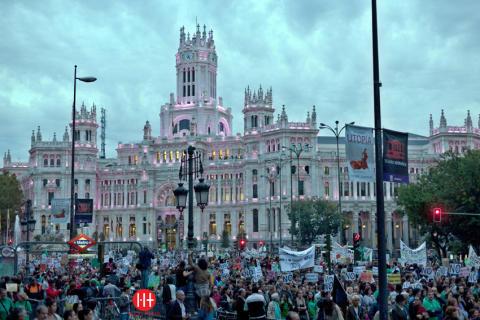 MANIFESTACIÓN DE ESTUDIANTES EN MADRID Y DE TRANSPORTE PÚBLICO