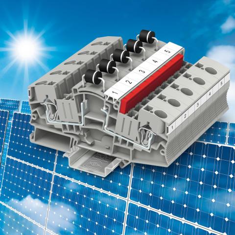 1000 V DC plintar för solcellsapplikationer