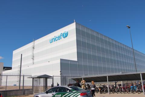 UNICEFs katastroflager i Köpenhamn