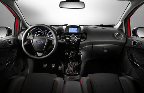 Fiesta Red og Black Edition, interiørbilde