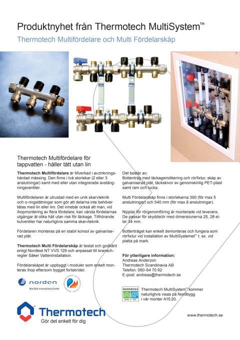 Produktnyhet från Thermotech MultiSystem™