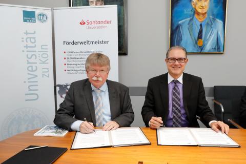 Santander und Universität zu Köln verlängern Kooperation