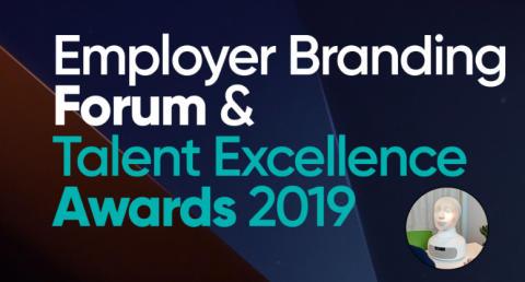 TNG:s VD och AI-roboten Tengai på Employer Branding Forum & Talent Excellence Awards 2019