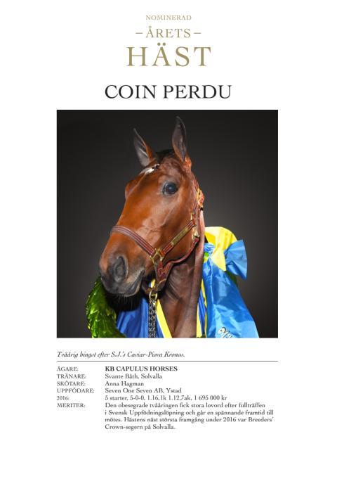 Presentation av Årets Häst-kandidater