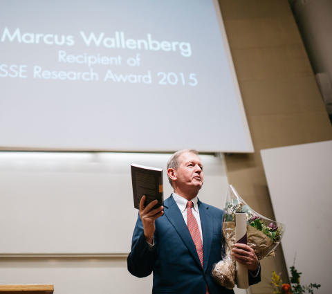 ​Marcus Wallenberg tilldelas SSE Research Award 2015
