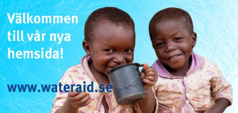 WaterAid välkomnar till ny hemsida