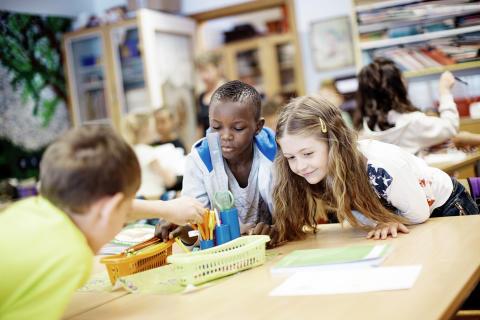 Nyhet i Väsbyskolans nya paviljonger: Åldersanpassade klassrum