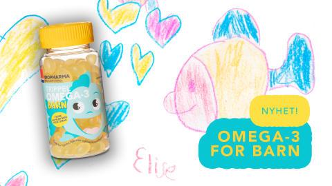 NYHET: Omega-3 med fruktsmak for barn