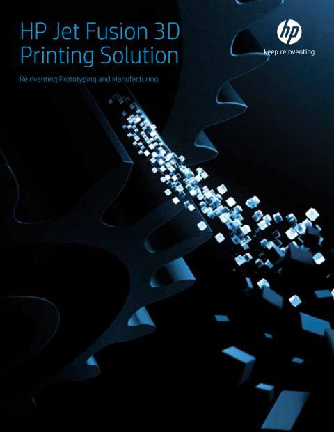 HP Jet Fusion Printing Solution brosjyre med illustrasjoner