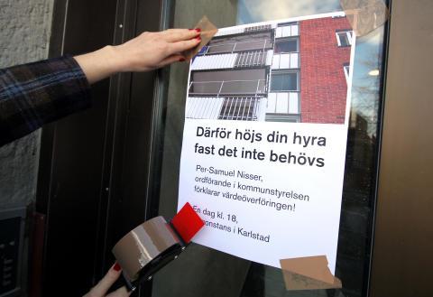 Nisser(M) uppmanas att komma ut i bostadsområdena och förklara värdeöverföringen