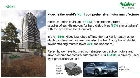 Nidec's automotive business