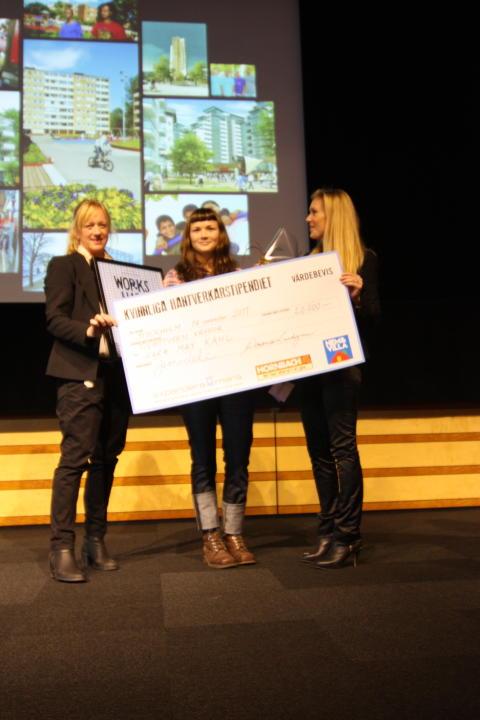 Sara May Kahl, vinnare av 2011 års Kvinnliga hantverkarstipendium.
