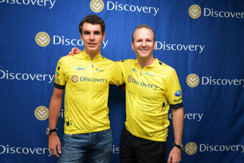Daryl Impey and Discovery Insure CEO Anton Ossip
