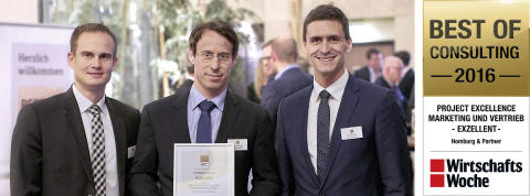 Best of Consulting 2016: Homburg & Partner receives consultancy award from WirtschaftsWoche