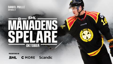 Månadens Spelare i oktober: Daniel Paille, Brynäs