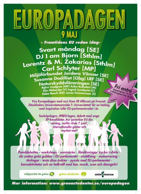 Pressinbjudan Europadagen - Framtidens EU redan idag - debatt och fest på Frescati 9/5