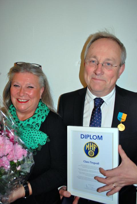Claes Tingvall går MHF:s guldmedalj