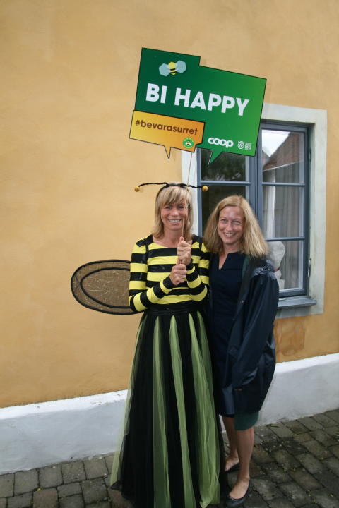 Louise König, hållbarhetschef Coop och Katarina Luhr, mp Stockholm