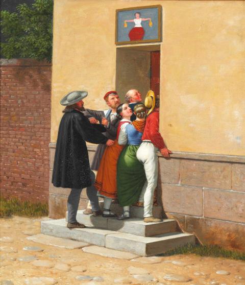 """C. W. Eckersberg: """"Trængsel i en Dør"""" (1844)"""
